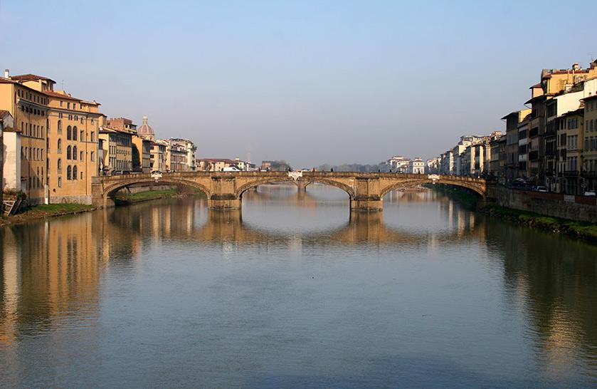 "photo ""Ponte Santa Trinita. Florence"" tags: architecture, landscape,"