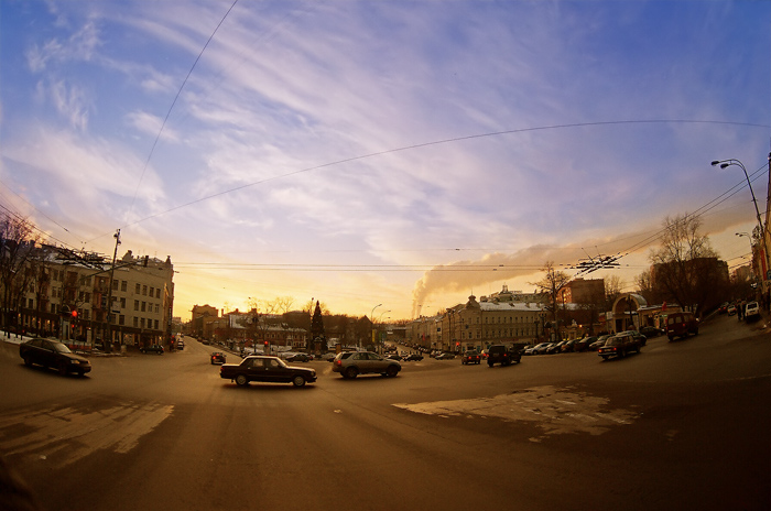 "photo ""moscow winter (-15oC)"" tags: architecture, landscape, sunset"