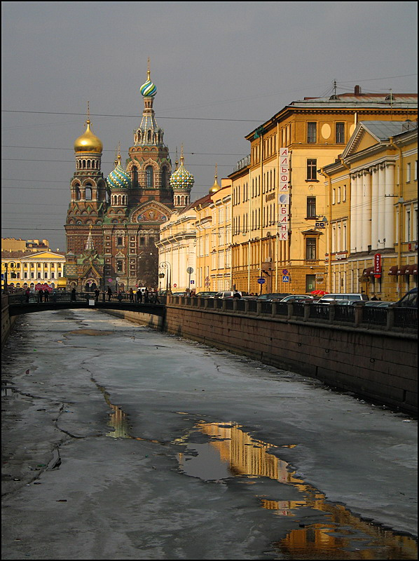 "photo ""Savior on Spilled Blood Cathedral"" tags: architecture, landscape, sunset"