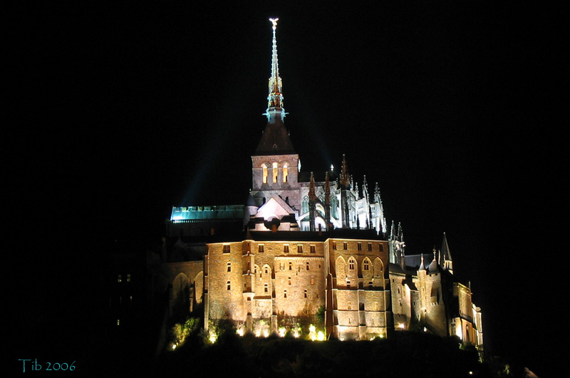 "photo ""SaintMichel"" tags: travel, landscape, Europe, night"
