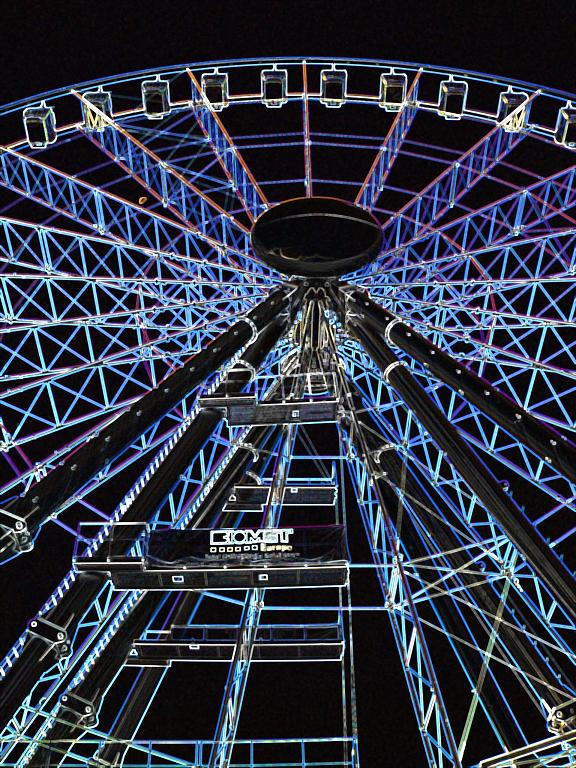 "photo ""Neon wheel ..."" tags: abstract,"