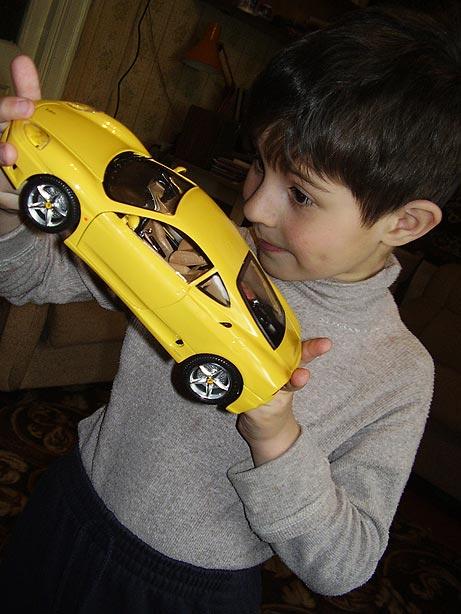 "photo ""A New Toy Car"" tags: portrait, children"