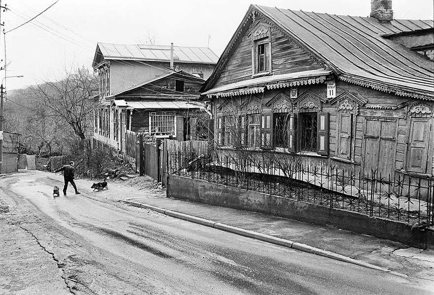 "photo ""Olegovskaya street"" tags: architecture, black&white, landscape,"