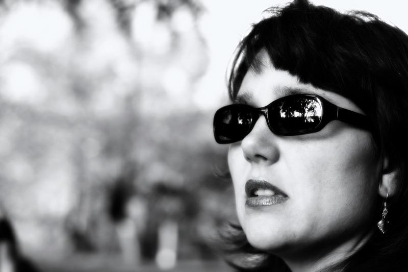 "photo ""Sasa"" tags: portrait, black&white, woman"