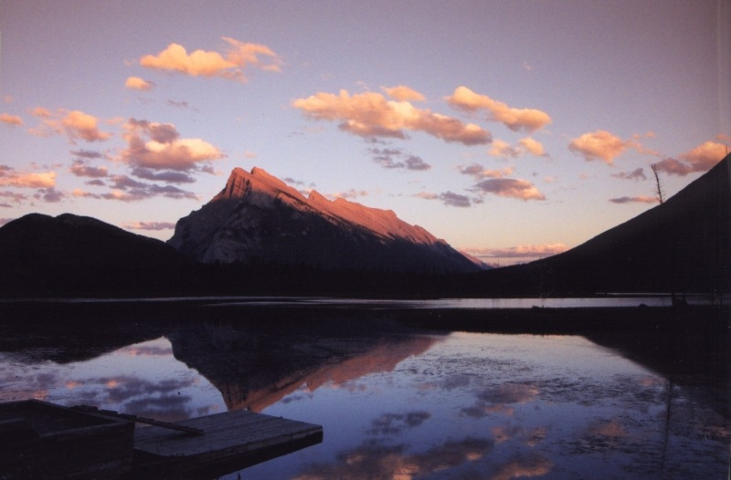 "photo ""Banff sunset"" tags: landscape, mountains"