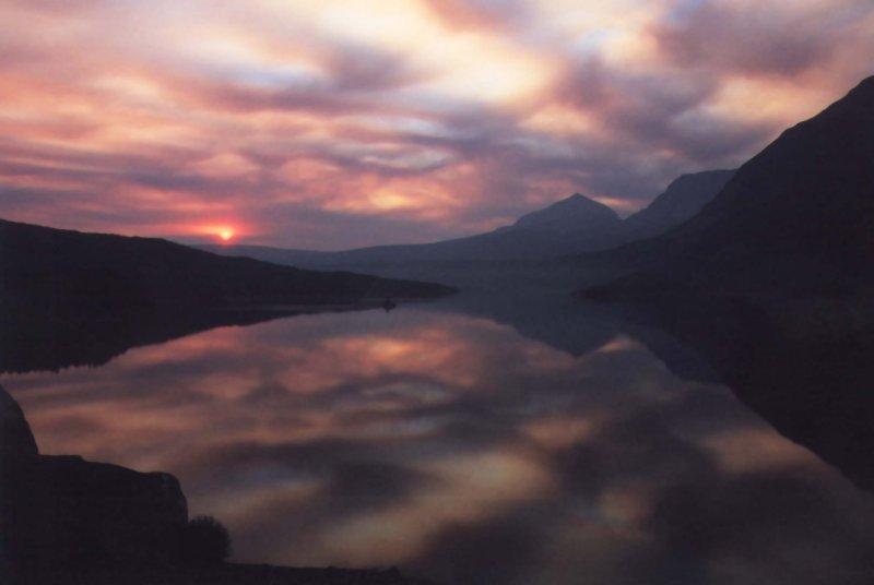 """photo """"Glacier sunrise"""" tags: landscape, mountains"""