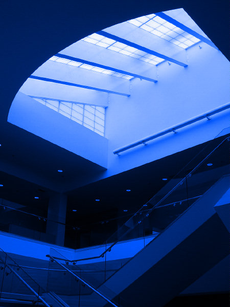 "photo ""Skylight in Blue"" tags: interior, abstract,"