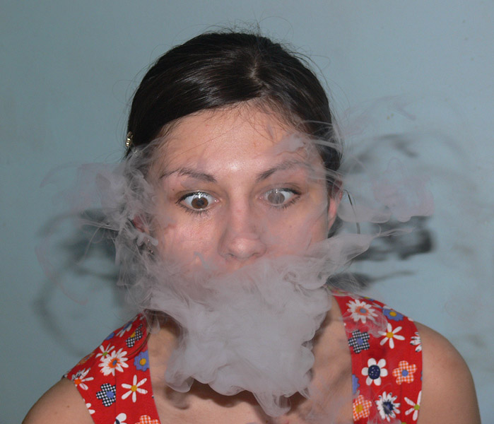"photo ""Joy of smoking"" tags: portrait, humor, woman"