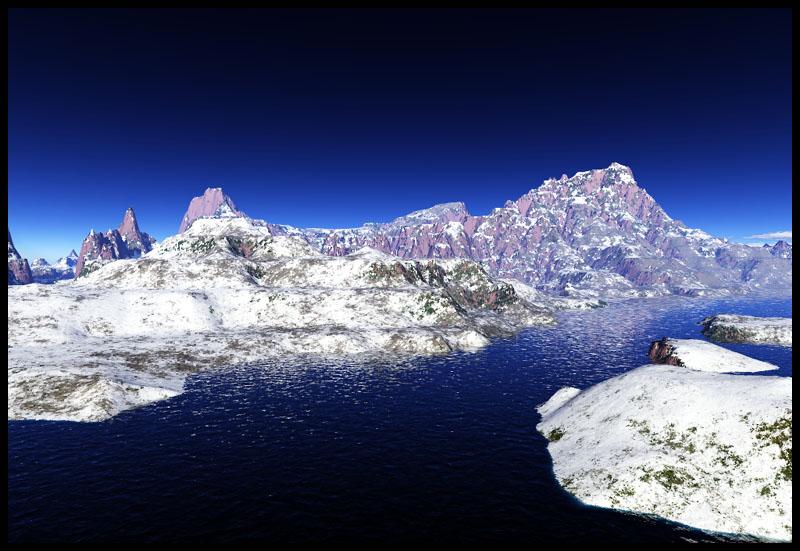 "photo ""Холодные воды горной реки"" tags: landscape, mountains"