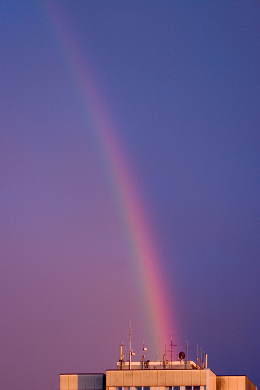 "photo ""rainbow on the roof"" tags: landscape, nature,"