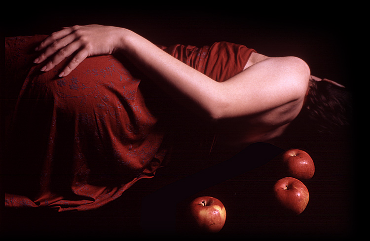 "photo ""Study in red"" tags: genre, nude,"