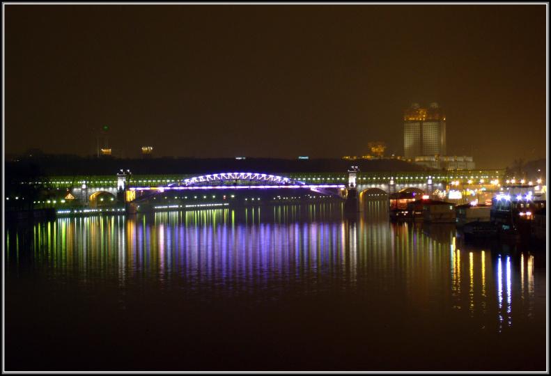 """фото """"Андреевский мост"""" метки: пейзаж, ночь"""