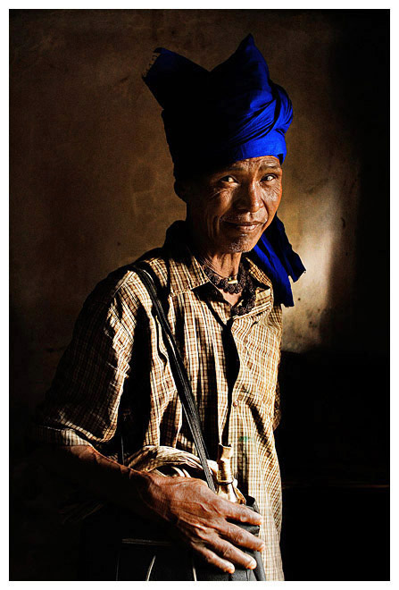 "photo ""Portrait of a Reang Tribal #1/ Портрет мужчины из племени Реанг"" tags: portrait, travel, Asia, man"
