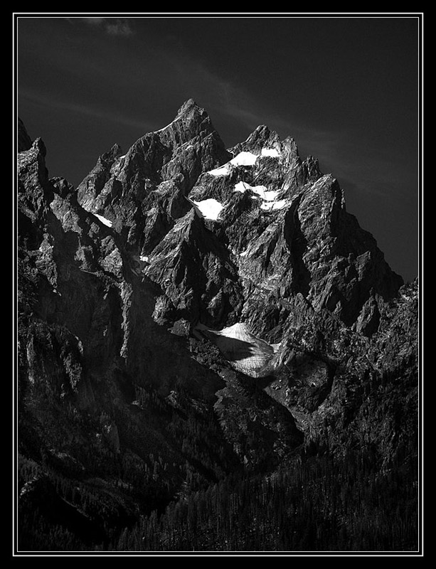 "photo ""Moonlight"" tags: landscape, black&white, mountains"