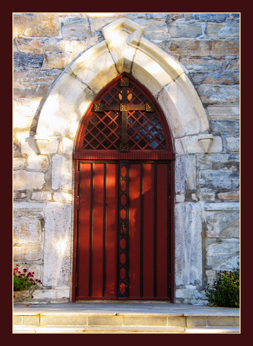 "photo ""Old Church Door"" tags: architecture, landscape,"