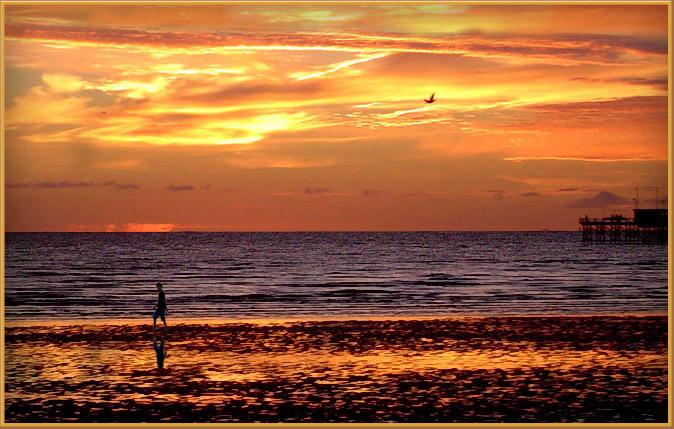 "фото "".. but the sun has set."" метки: пейзаж, вода, закат"
