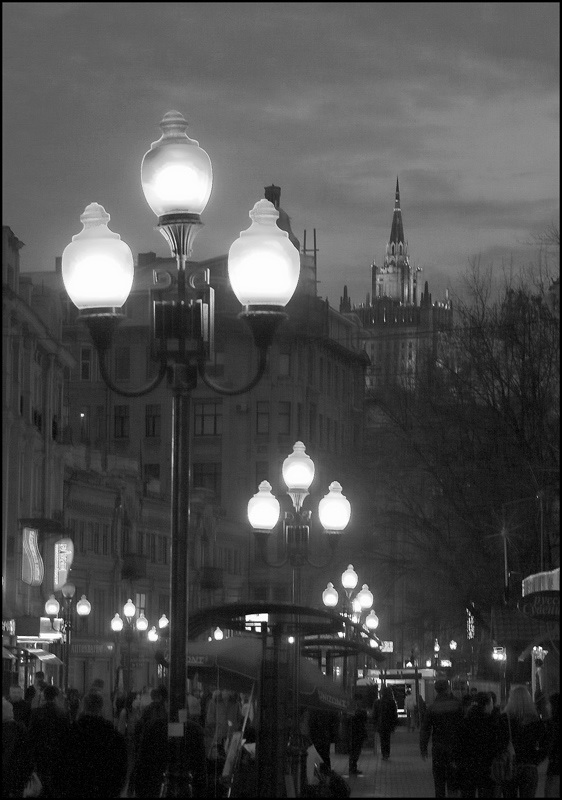 "photo ""Walking Down THe Old Arbat"" tags: architecture, landscape,"