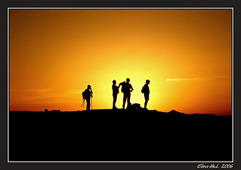 """photo """"Quartet"""" tags: landscape, genre, sunset"""