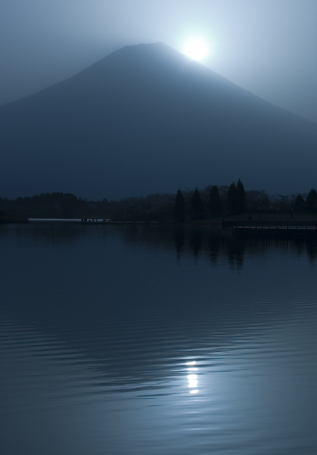 "photo ""Diamond Fuji"" tags: landscape, mountains, sunset"