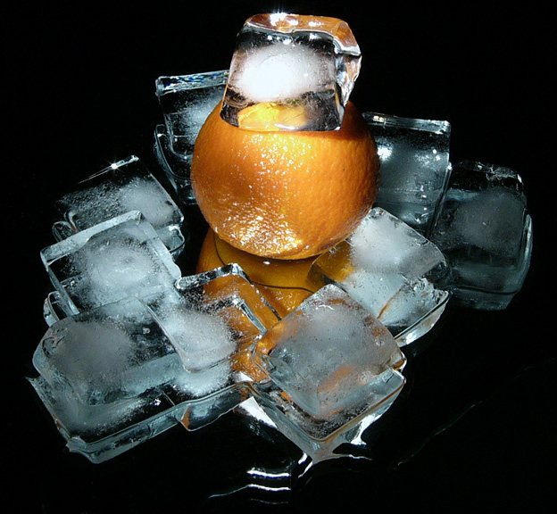 "photo ""Tangerine of ice age"" tags: still life, macro and close-up,"