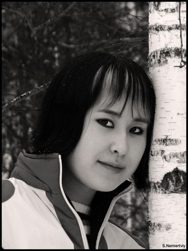 """фото """"Контраст"""" метки: портрет, черно-белые, женщина"""