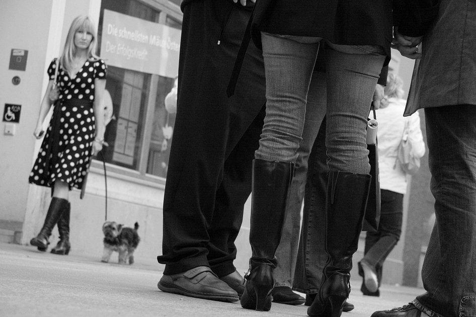"photo ""Salzburg in strange Perspectives"" tags: black&white,"