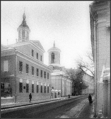 "photo ""The silent lane"" tags: black&white,"