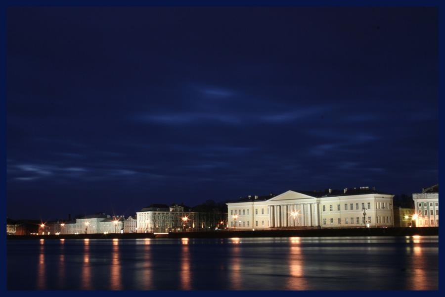 """photo """"На набережной Невы"""" tags: landscape, night"""