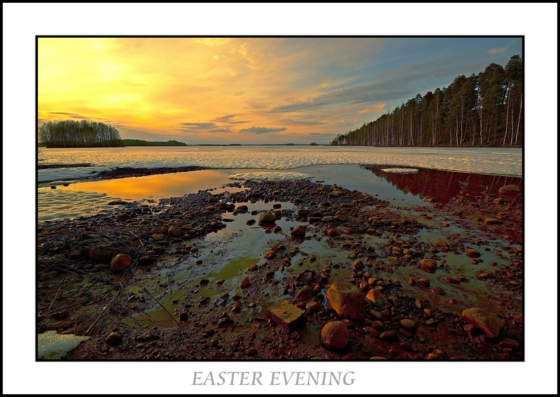 "photo ""EASTER EVENING"" tags: landscape, spring"