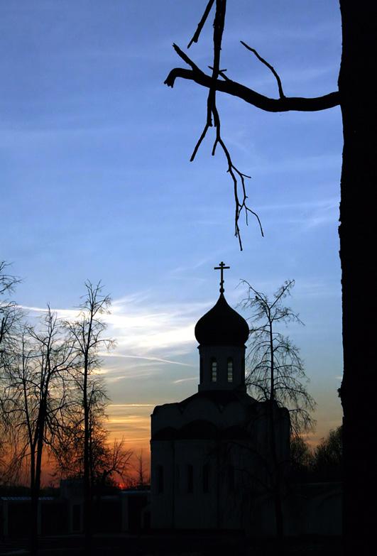 "photo ""The crosses"" tags: landscape, sunset"