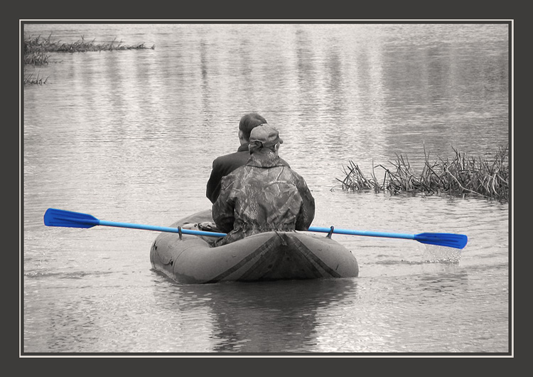 "photo ""We carry away oars!!!"" tags: genre, black&white,"