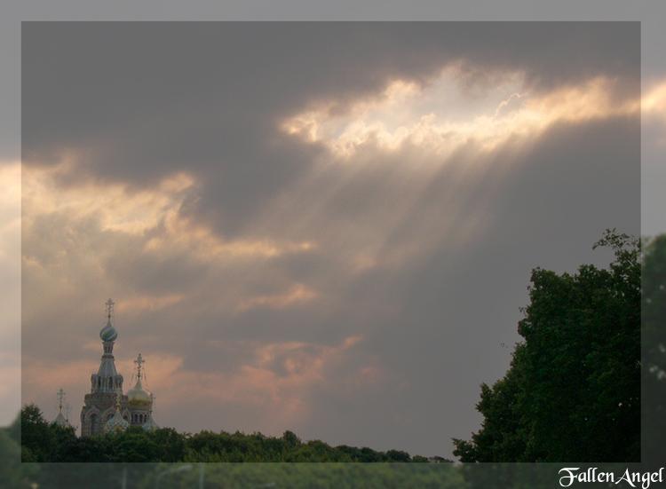 """фото """"спасительный свет"""" метки: пейзаж, архитектура, закат"""