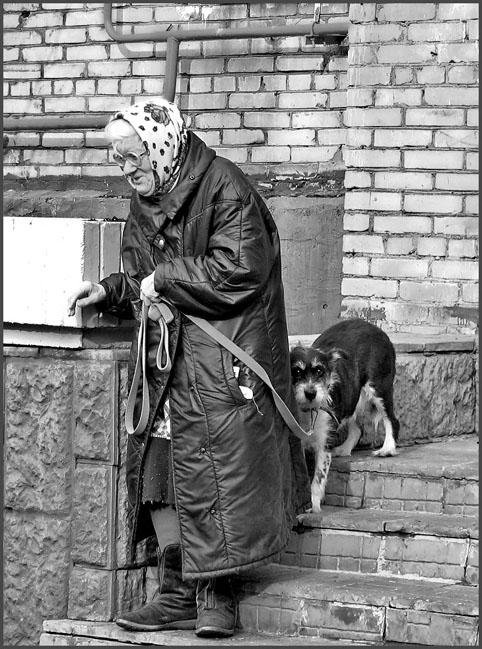 "фото ""О бабушке, ее собаке и том, что осталось за кадром."" метки: жанр,"