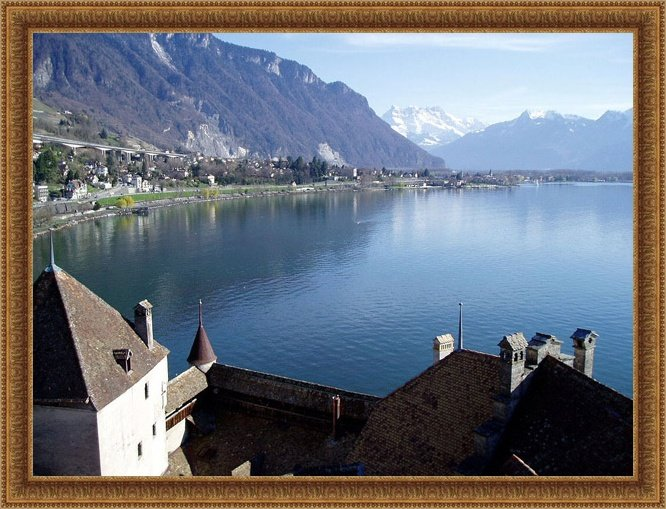 "photo ""Castle of Chillon"" tags: travel, landscape, Europe, water"