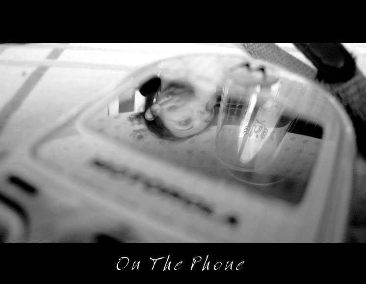 "photo ""On the Phone"" tags: black&white, genre,"