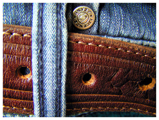 "photo ""Jeans, a leather and iron"" tags: macro and close-up,"
