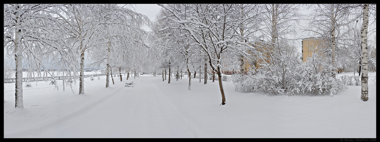 "photo ""April snowfall / 0158_0141-0147"" tags: panoramic, landscape, spring"