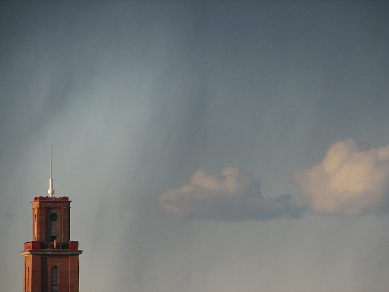 "photo ""There's rain over the tower"" tags: architecture, landscape, clouds"
