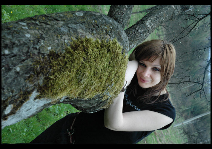 """photo """"Biological trip"""" tags: portrait, nature, woman"""
