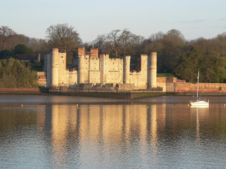 "photo ""Upnor Castle at sunrise"" tags: architecture, landscape, spring"