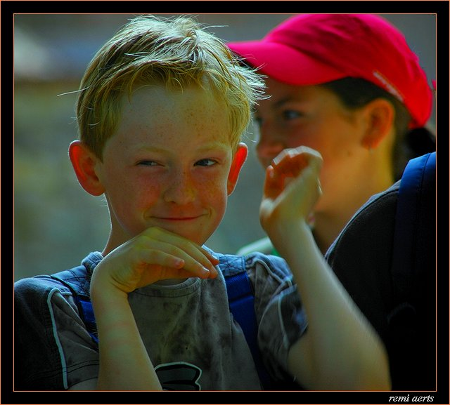 "photo ""funny reddish"" tags: portrait, reporting, children"