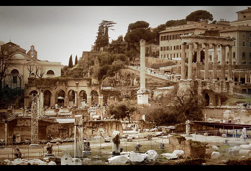 "photo ""Roman Forum"" tags: architecture, travel, landscape, Europe"