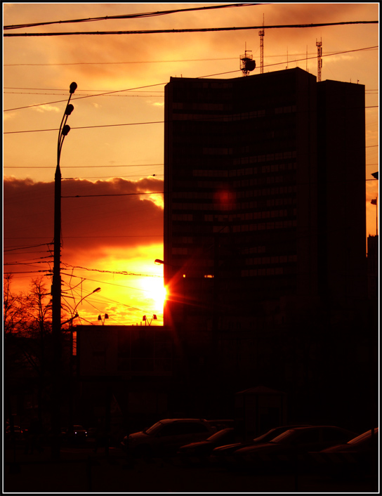 "photo ""Sunset City"" tags: architecture, landscape, sunset"