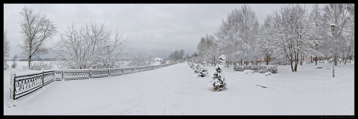 "photo ""April snowfall / 0158_0129-0137"" tags: panoramic, landscape, spring"