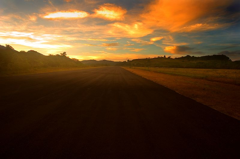 "photo ""The Old Airfield"" tags: landscape, sunset"