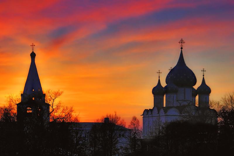 "photo ""Suzdal sunset"" tags: landscape, sunset"
