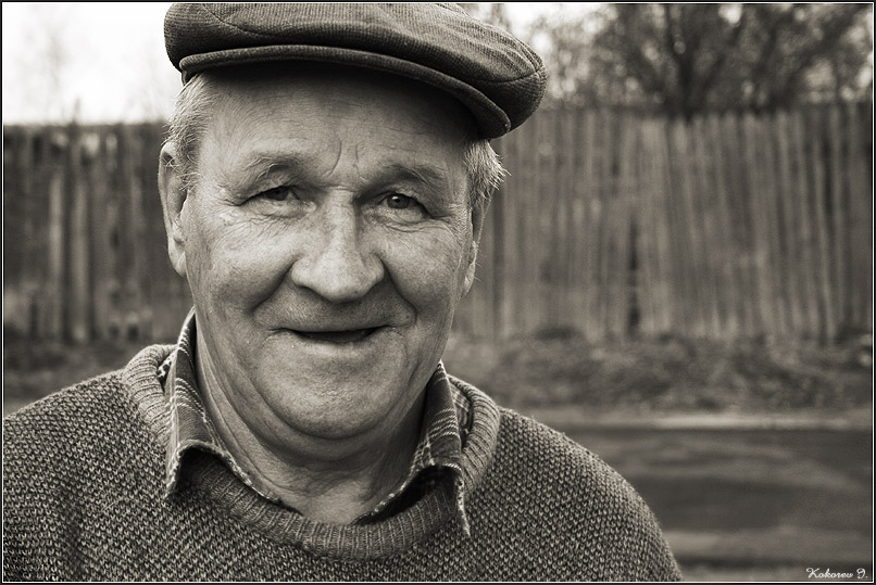 "photo ""The grandfather"" tags: portrait, black&white, man"