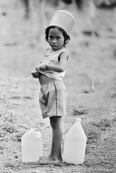 "photo ""A little lady"" tags: genre, black&white,"