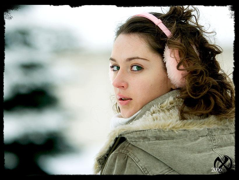 """photo """"Winter portrait"""" tags: portrait, misc., woman"""