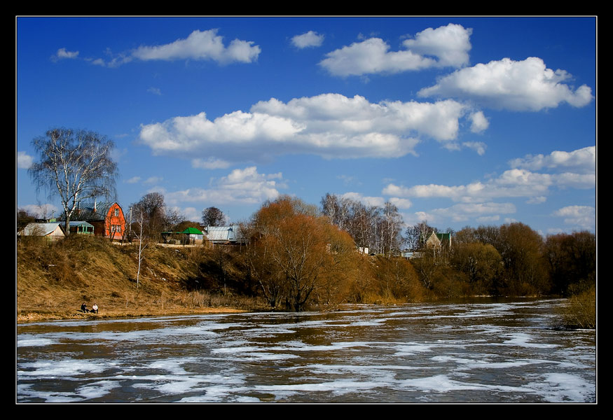 "photo ""On the river bank in April"" tags: landscape, spring"